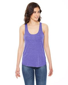 American Apparel Ladies' Triblend Racerback Tank TR308 TRI ORCHID