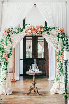 Romantic, indoor arbor.