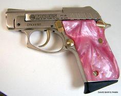 Pink guns | ... TAURUS PT-25 NICKEL FINISH PINK PEARL GRIPS For Sale at GunAuction.com
