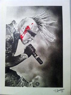 Pencil drawing of Combichrist's Andy Laplagua