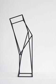 metal line sculpture pyramid - Google Search