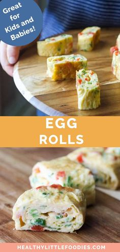 Toddler meals 394839092334322406 - A fun way to serve an omelette to babies and young children. Learn how to roll omelettes to make it easy for little hands too pick up or a different way to serve eggs. Source by Healthy Lunches For Kids, Healthy Meals For Kids, Kids Meals, Egg Recipes For Kids, Baby Food Recipes, Toddler Recipes, Picky Toddler Meals, Toddler Food, Easy Cooking