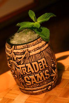 Trader Sam's Barrel Mug with Shipwreck on the Rocks, available at the Disneyland Hotel