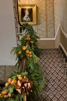 Top Christmas Staircase Garland - Christmas Celebration - All about Christmas