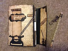 annes papercreations: Graphic 45 Typography Folio journal / keepsake Photo album