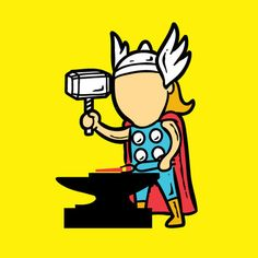 Thor as a blacksmith.  23 Superheroes And Their Part-Time Jobs • Page 3 of 5 • BoredBug