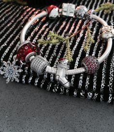 Cute PANDORA Christmas charms to ring in a joyful Christmas. #PANDORAbracelet
