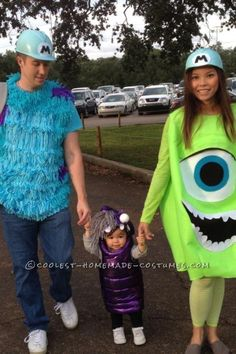 Sully, Mike, and Boo from Monsters, Inc.