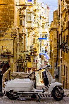 A Vespa in Valleta, Malta