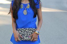 "Sophia Reyes ""Cecil"" Tunic Arthur & Livingston Agate necklace H&M Clutch"
