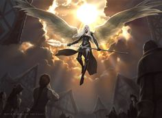 Angel concept art for Magic: The Gathering / Battle for Zendikar. Angel concept art for Magic: The Gathering / Battl Magic The Gathering, Celestial, Jason Chan, Mtg Art, Angel Warrior, Ange Demon, Angels And Demons, Wizards Of The Coast, Angel Art