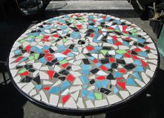 Making a Mosaic Table with Ceramic Tiles . Ceramic Tile Design. Design ideas for an old table