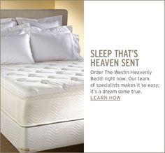 Westin Heavenly Bed - best night's sleep ever Westin Heavenly Bed, Hotel Bed, Heaven Sent, Cool Beds, Down Pillows, Good Night Sleep, Mattress, Master Bedroom, New Homes