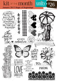 Magic of Beginnings - Kit of the Month {1/15} - Unity Stamp Co