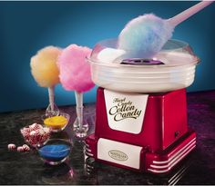 Nostalgia Electrics Cotton Candy Maker: create your own delicious cotton candy using sugar or hard candy!