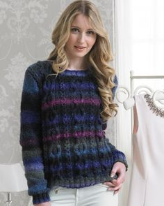 'Elegant' Sweater from Boutique (Jenny Watson) by  at KnittingFever.com