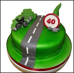 40th birthday Bike cake for cyclist enthusiasts