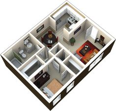 50 One 1 Bedroom Apartment House Plans Tiny Homes Bath And Floor Plans