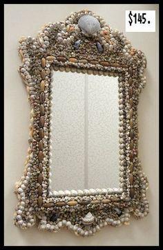 Sea Shell Art Design, Mirror $145.00