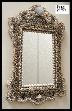 Sea Shell Art Design, Mirror $145.00