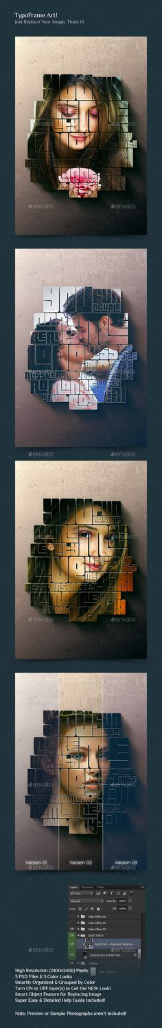 Typoframe Art Template #design Download: http://graphicriver.net/item/typoframe-art/10432393?ref=ksioks