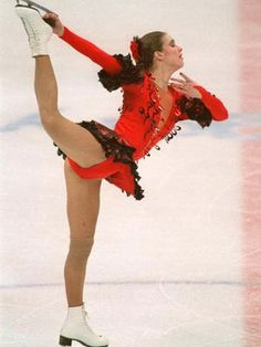 Katarina Witt wins her second Olympic gold for figure skating...something a former diver like Sarah might appreciate as a sport-lover. This was the games where she beat American Debi Thomas...who also chose to skate as Carmen. Big controversy.