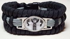 Oakland Raiders Punisher Skull Handmade Trilobite Weave Paracord Bracelet  #handmade #OaklandRaiders