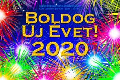 CDB Cartoline per tutti i gusti: 💫🌟✨ Bonne Année 💫🌟✨ Fireworks Images, New Year Postcard, Happy New Year 2020, Tis The Season, Memorial Day, Greeting Cards, Neon Signs, Instagram, Postcards