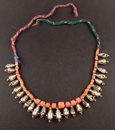 35d03b093c4 Old silver and coral necklace from Ladakh