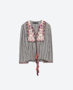 Image 8 of SHORT EMBROIDERED JACKET from Zara