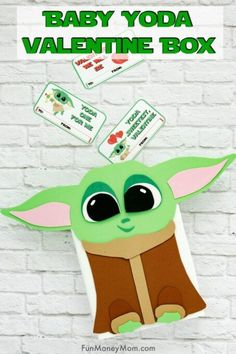 Baby Yoda Valentine Box - Looking for fun Valentine Box ideas for Valentine's Day? This Baby Yoda craft will be the hit of your child's classroom. Valentine Boxes For School, Valentines Day History, Valentines For Boys, Valentine Day Crafts, Walmart Valentines, Valentines Hearts, Printable Valentine, Valentine Wreath, Valentine Ideas