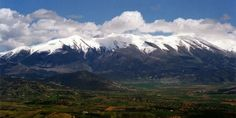 Mount Olympus As Seen From Katerini Greece Vacation, Greece Travel, Mount Olympus Greece, Greek And Roman Mythology, Greek Culture, World View, Macedonia, Places Around The World, Tourism