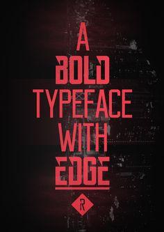 Reckoner Typeface on Behance