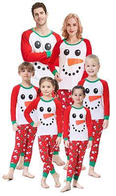 706ab88905 Matching Family Christmas Pajamas Boys Girls Snowman Jammies Men Sleepwear  Size L