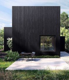 40 Impressive Black House Exterior Design Ideas To Make Your House Looks More Awesome Architecture Résidentielle, Commercial Architecture, Black House Exterior, Wood Facade, Timber Cladding, House In The Woods, Exterior Design, Villa, House Design