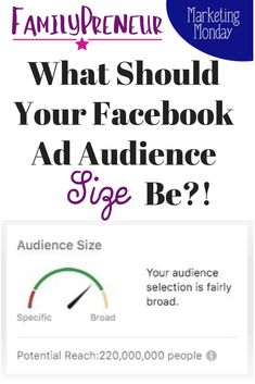 Size Matters: Facebook Ad Audience Size, That Is! Learn how to navigate the Facebook Ad Algorithms and determine what size audience you need to target based on your specific business and audience characteristics. #FacebookAds #FacebookMarketing #MegBrunson Facebook Marketing Strategy, Social Media Marketing, Content Marketing, Facebook Business, Online Business, Size Matters, How To Use Facebook, Pinterest Marketing, Social Media Tips