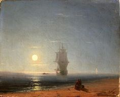 Lunar nuit (2) - (Ivan Aivazovsky)