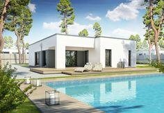 Perfect 119 CUBE - DAN-WOOD House schlüsselfertige Häuser