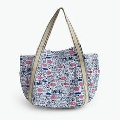 ILEA - [Lazy Rabbit] 100% Cotton Eco Canvas Shoulder Tote Bag / Shopper Bag / Multiple Pockets