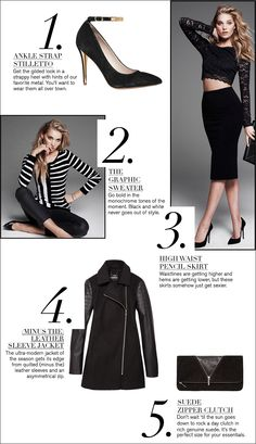 LOVE the pencil skirt. The Hot List: 5 November Must Haves #EXPRESS