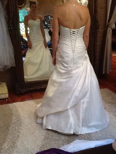 Swoop Bustle Fit And Flare Wedding Gown