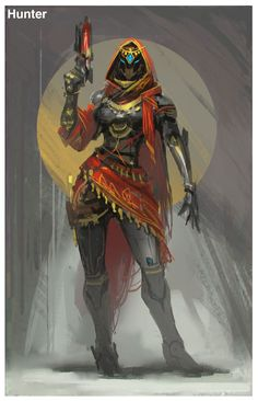 ArtStation - Destiny fan art, mole wang