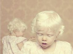 Albinos baby kid child looks like an angel or a little fairy! Precious