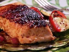 Maple and Mustard Glazed Salmon Recipe : Paula Deen : Food Network - simple & yummy! Baked Salmon Recipes, Fish Recipes, Seafood Recipes, Paleo Recipes, Cooking Recipes, Recipies, Sauce Recipes, Bread Recipes, Yummy Recipes