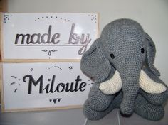 éléphant crochet - Made by Miloute