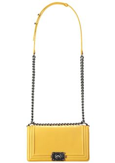 Chanel Boy Bag in yellow! LOVE!