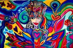 Reina Mujer Buda Sabia Diosa Simple y Genial@Mujer Arcoiris by #patogilvillalobos #happyartbypato