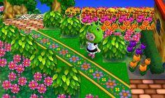 Animal Crossing: New Leaf QR Code Paths Pattern diagonal