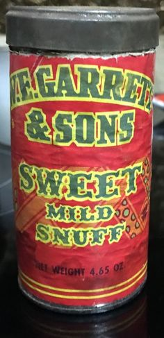 W.E. Garrett and Sons Sweet Snuff