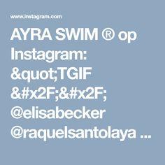 "AYRA  SWIM ® op Instagram: ""TGIF // @elisabecker @raquelsantolaya wear The Fierce top & bottom in black ⚡️GET 30% SITEWIDE - USE CODE: NEWYEAR 📸: @genesisvb_"" • Instagram"